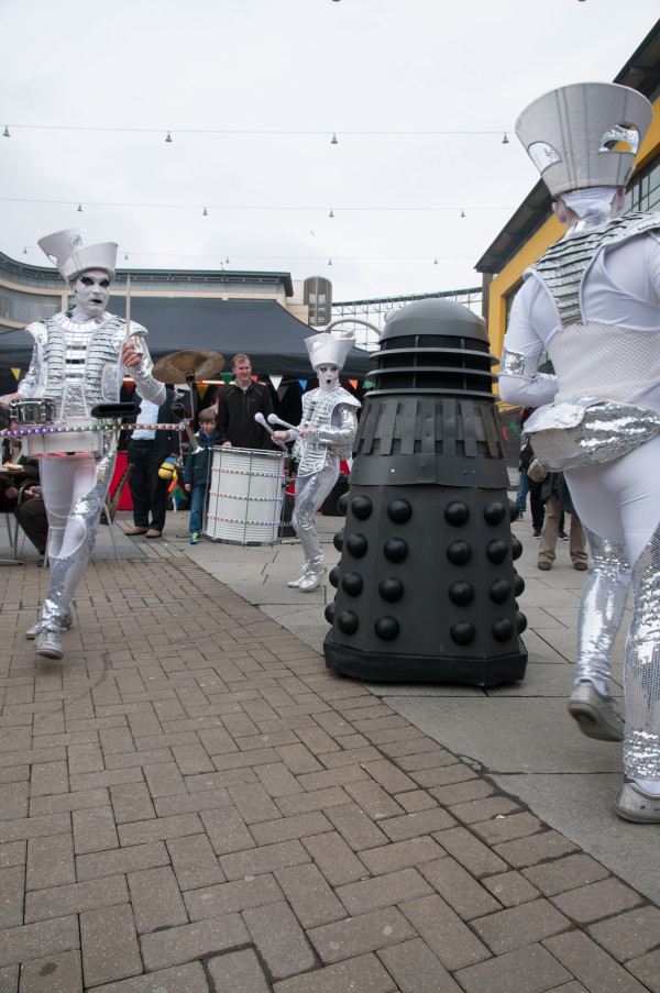 Spark! and dalek at Maker Faire at Life 2014, image by Kate M_B